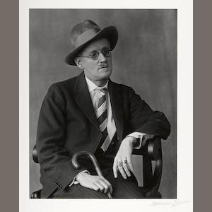 Berenice Abbott (American, 1898-1991); James Joyce, Paris;