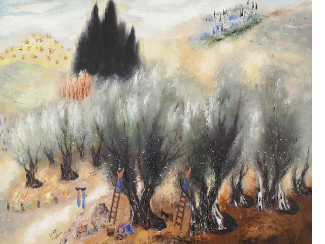 Reuven Rubin (Israeli, 1893-1974) The Olive Pickers, 1958