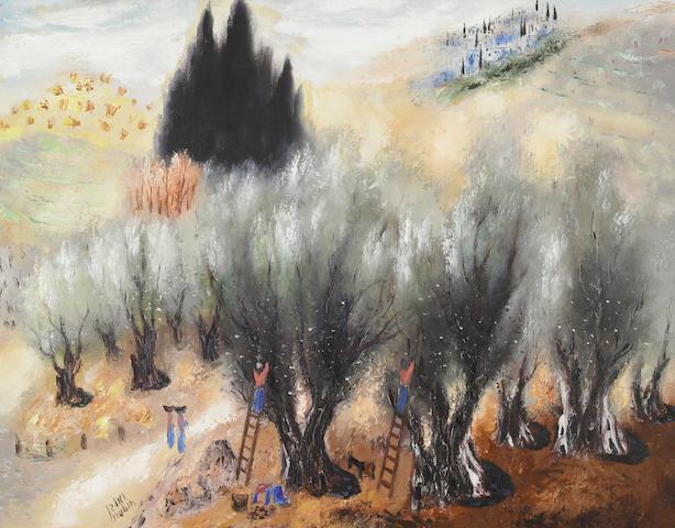 Reuven Rubin (Israeli, 1893-1974) The Olive Pickers, 1958