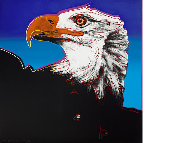 Andy Warhol (American, 1928-1987); Bald Eagle, from Endangered Species;