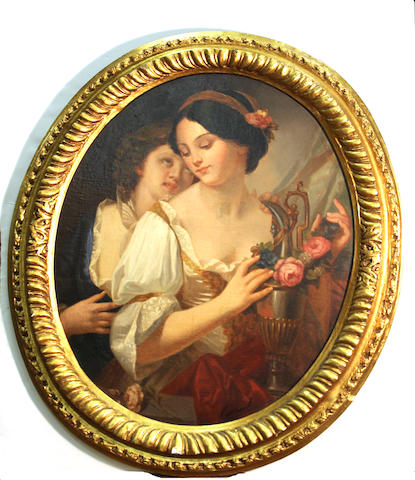 Romanof, portrait of two women