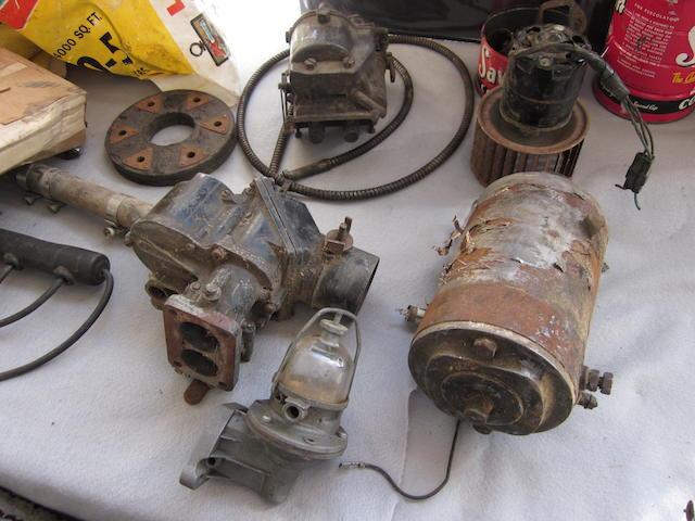A quantity of Bugatti spares,