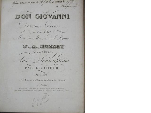 MOZART, WOLFGANG AMADEUS. 1756-1791. 2 titles: