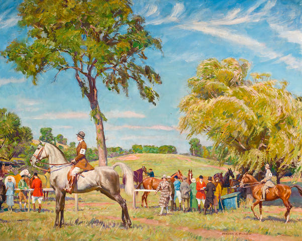 Howard Everett Smith (American, 1885-1970) At the horse show 40 x 50in