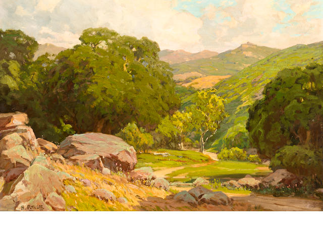 Hanson Puthuff, oil on canvas of Topanga Canyon