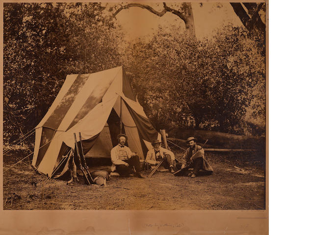 Carleton E. Watkins (American, 1829-1916); Hunter's Camp in Yosemite Valley;