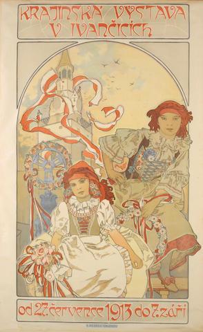 Alphonse Mucha (Czech, 1860-1939); Krajinská výstava v Ivančicích;