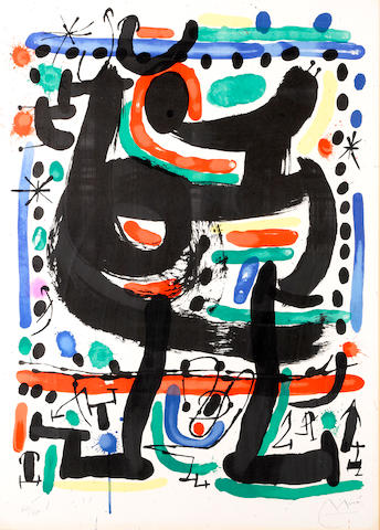 Joan Miró (Spanish, 1893-1983); Poster for the Opening of Mourlot Atelier in New York;