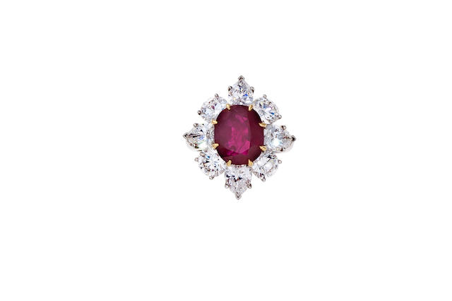 A ruby and diamond ring, Van Cleef & Arpels,