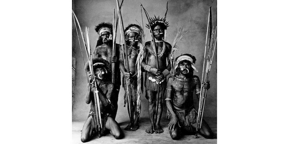 Irving Penn (American, 1917-2009); Five Okapa Warriors, New Guinea;
