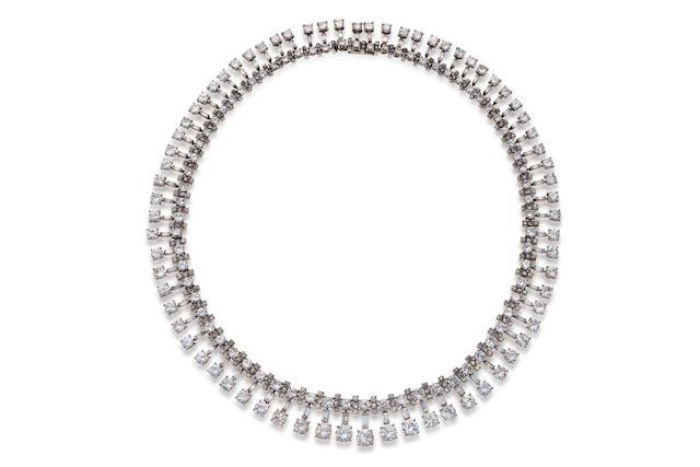 A diamond necklace,
