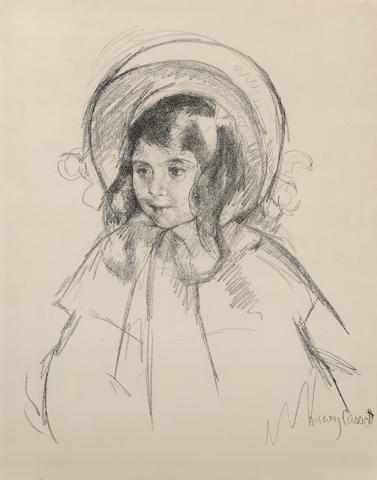 Mary Cassatt (American, 1844-1926); Sara Wearing her Bonnet and Coat;