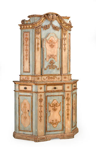 A Venetian Neoclassical polychrome decorated cabinet <br>fourth quarter 18th century