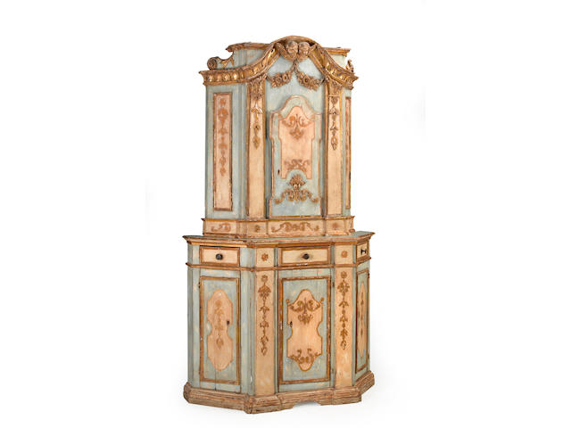 A Venetian Neoclassical polychrome decorated cabinet