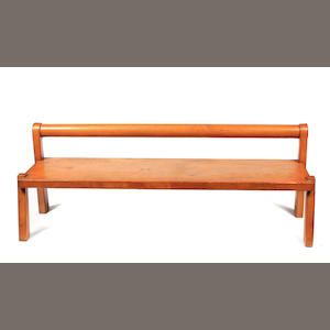 A George Montgomery wood bench