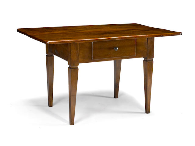 A Louis XVI walnut table<br> fourth quarter 18th century