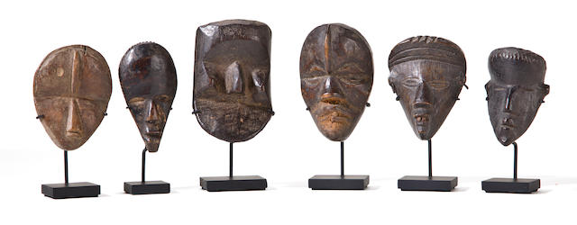 Six Dan Passport Masks, Liberia/Ivory Coast