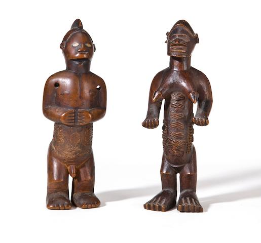 A pair of Bembe figures
