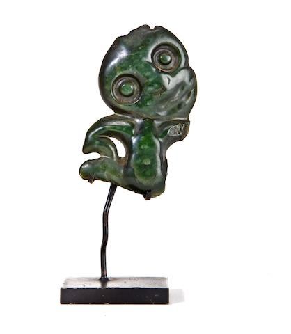 A Maori Nephrite fragment pendant, hei tiki