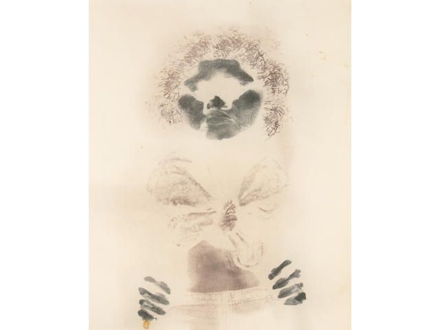 David Hammons (American, born 1943) Untitled (Bodyprint), 1975 28 1/2 x 22 5/8in (72.4 x 57.5cm)