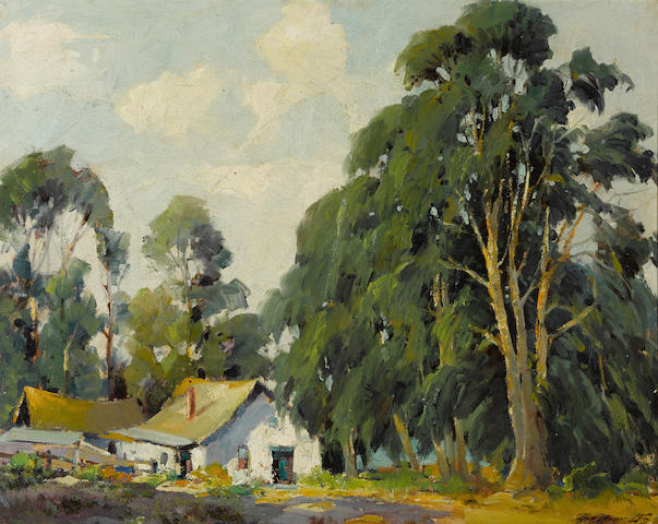 George Demont Otis (American, 1879-1962) The old adobe, Bolinas, California, circa 1940 24 x 30in