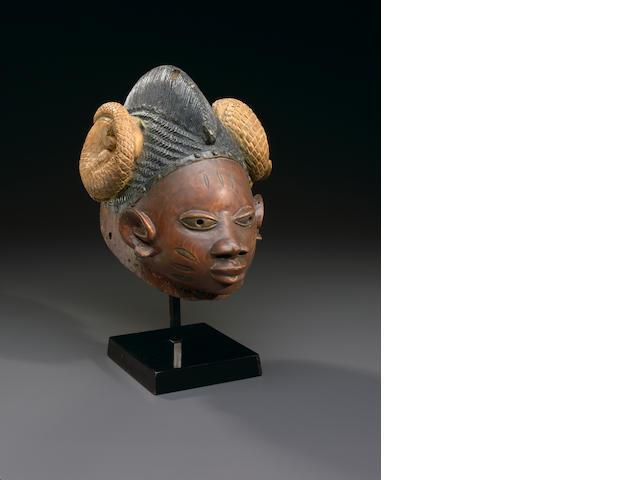 Yoruba Gelede Helmet Mask, Nigeria