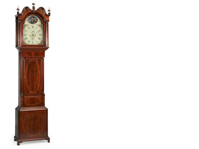 A George III inlaid mahogany tall case clock<br>Robert Fletcher, Chester<br>fourth quarter 18th century