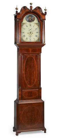 A George III inlaid mahogany tall case clock<br>Robert Fletcher, Chester<br>fourth quarter 18th century