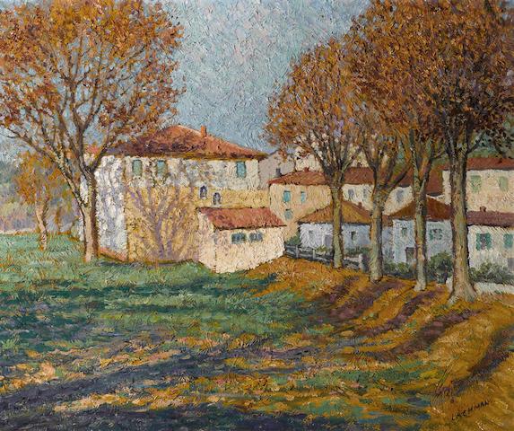 Harry B. Lachman (American, 1886-1975) Automne Villeneuf 18 x 21 1/2in