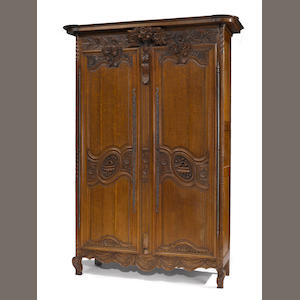 A Louis XV oak armoire. third quarter 18th century