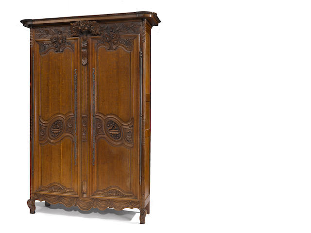A Louis XV oak armoire<br>third quarter 18th century