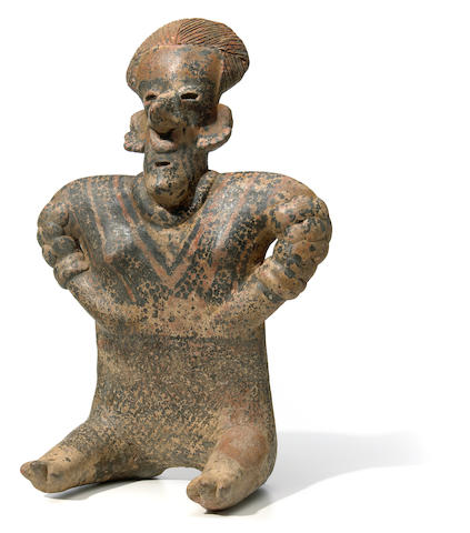 Nayarit Seated Female Figure,<br>Protoclassic, ca. 100 B.C.-A.D. 250
