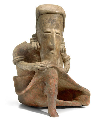 Jalisco Seated Figure, Protoclassic, ca. 100 B.C.-A.D. 250