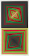 Victor Vasarely, Untitled (2 squares), color screenprint
