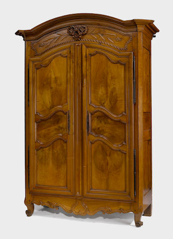 A Louis XV walnut armoire third quarter 18th century