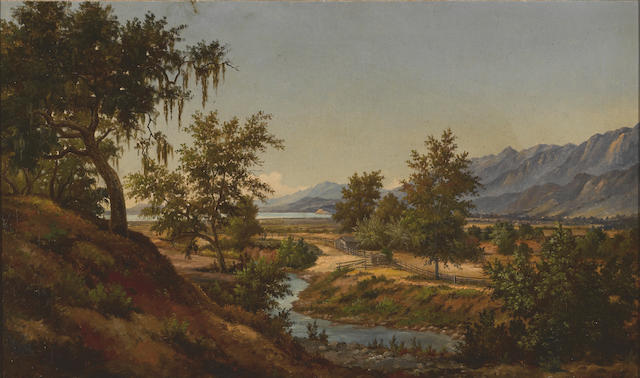 Henry Chapman Ford (American, 1828-1894) A view of Santa Barbara 18 x 30in