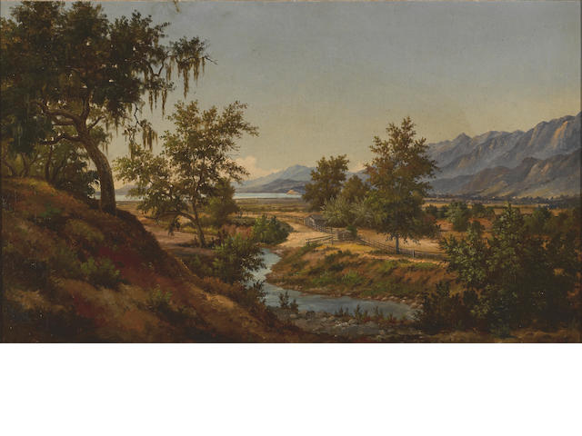 Henry Chapman Ford (American, 1828-1894) A view of Santa Barbara oil on canvas affixed to board unsigned