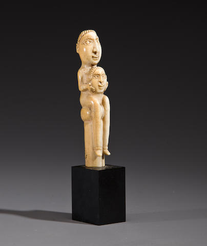 Afro Portuguese Ivory Finial