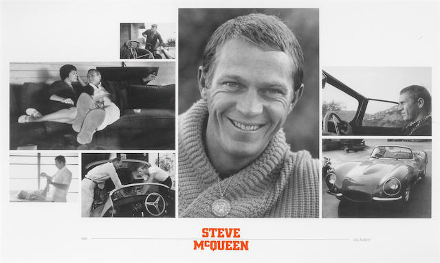 **ON INSPECTION** A Sid Avery collage of Steve McQueen, framed,