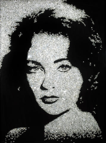 Vik Muniz Elizabeth Taylor (from the Diamond divas series), 2004 cibachrome print mounted on aluminum 4 from the edition of 10 plus 4 Artist's Proofs 40 x 30in