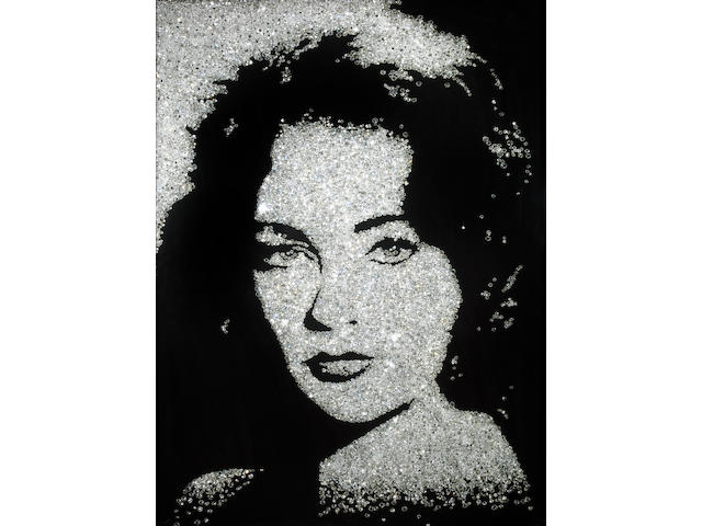 Vik Muniz (Brazilian, born 1961); Elizabeth Taylor (from Pictures of Diamonds);