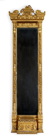 A Renaissance Revival giltwood pier mirror<br>third quarter 19th century