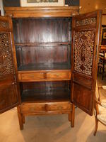 A Chinese mixed wood cabinet