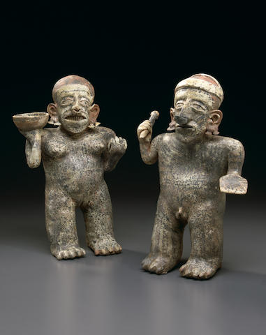 Large Nayarit Standing Couple,<br>Protoclassic, ca. 100 B.C.-A.D. 250