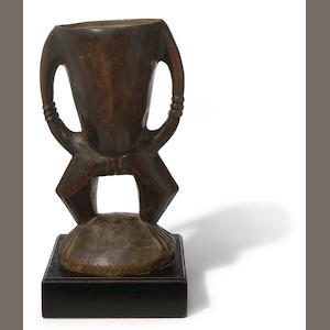 Large Azande Anthropomorphic Cup, Democratic Republic of the Congo