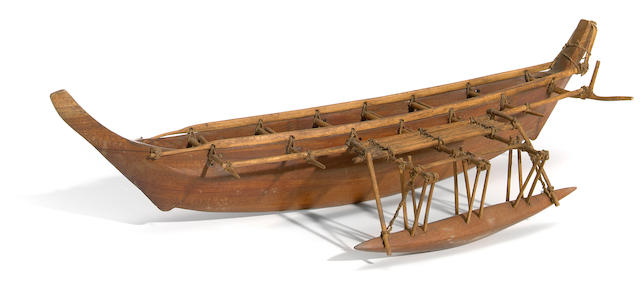 Outrigger Canoe Model, Nukuoro Atoll, Caroline Islands