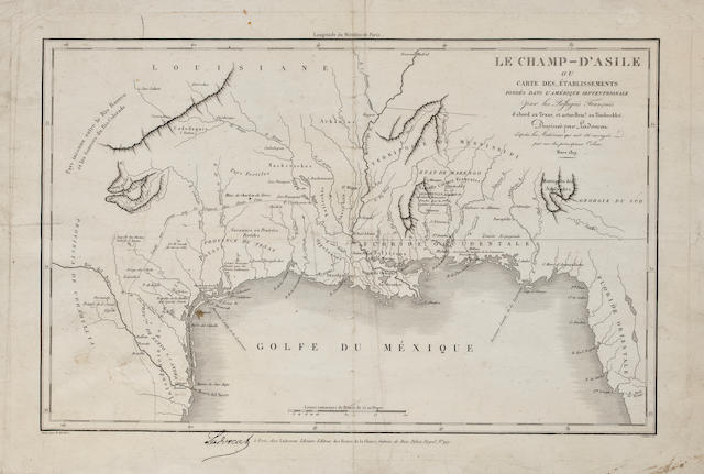 French Map of Texas and the Gulf Coast