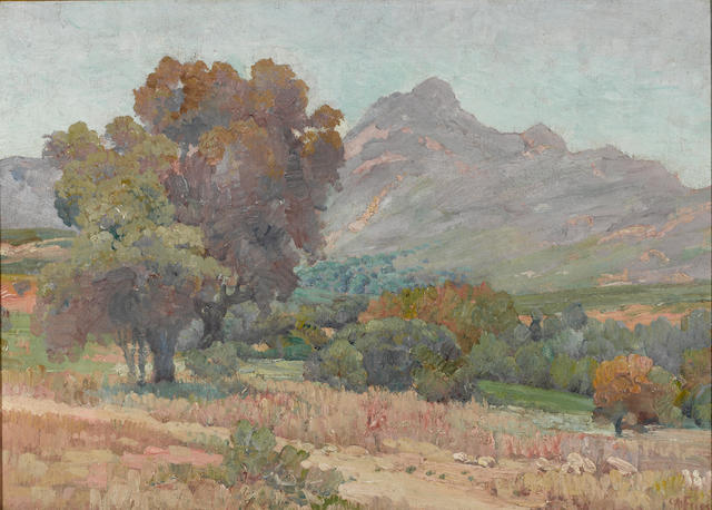 Charles A. Fries (American, 1854-1940) Lawson valley 15 x 21in