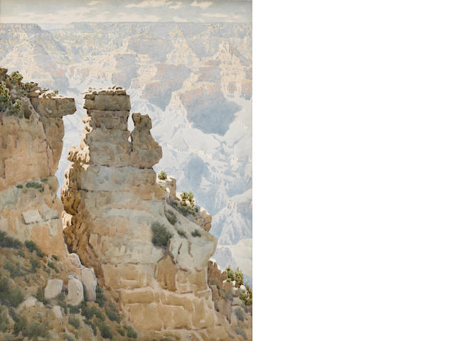 Gunnar Mauritz Widforss (American, 1879-1934) Grand Canyon 19 3/4 x 15in