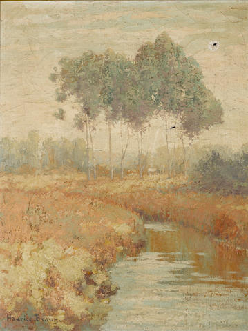 Maurice Braun, Spring, oil on canvas (CONDITION ISSUES)